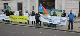 Free Balochistan Movement rally against China's involvement in Balochistan