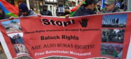 Free Balochistan Movement held simultaneous protests, campaigns in different countries